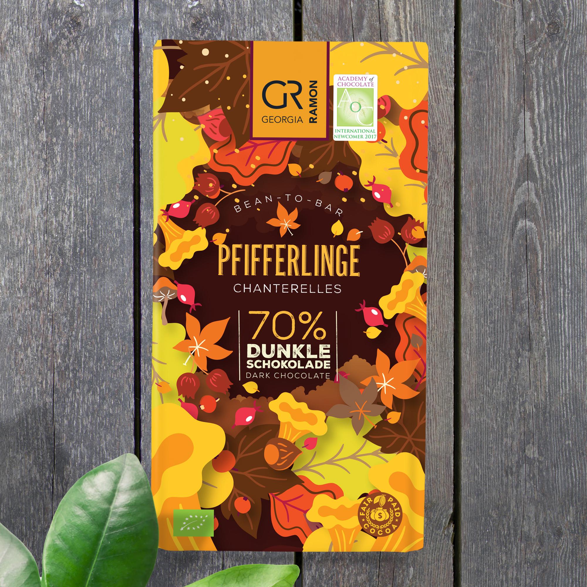 GEORGIA RAMON | Dunkle Schokolade »Pfifferlinge« 70%