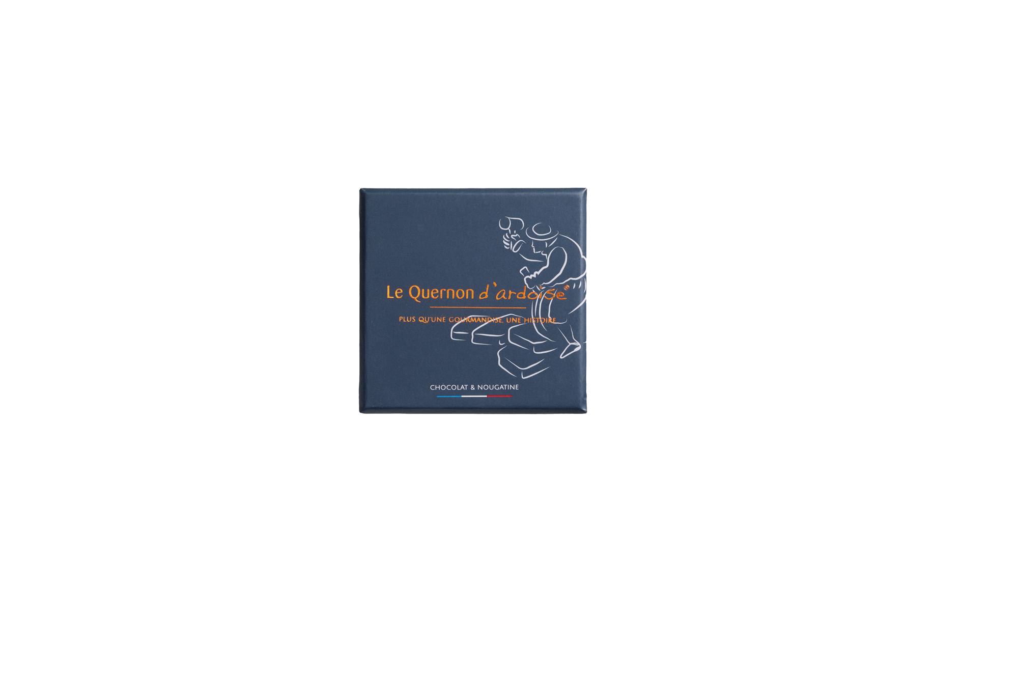 QUERNONS d'Ardoise »Krokant & blauer Schokolade« 60g