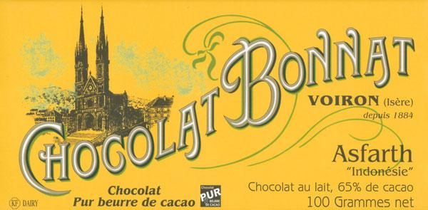 BONNAT Milchschokolade   Chocolat au lait »Asfarth« 65%