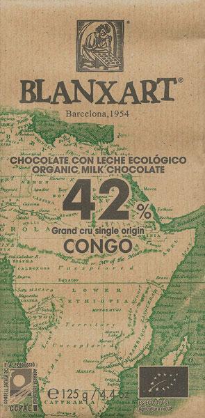 BLANXART   Milchschokolade »Congo« 42% - 125g