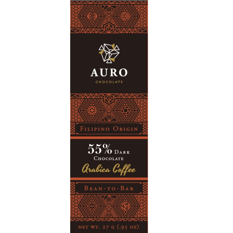 AURO Chocolate | Dunkle Schokolade »Arabica Coffee« 55% 27g