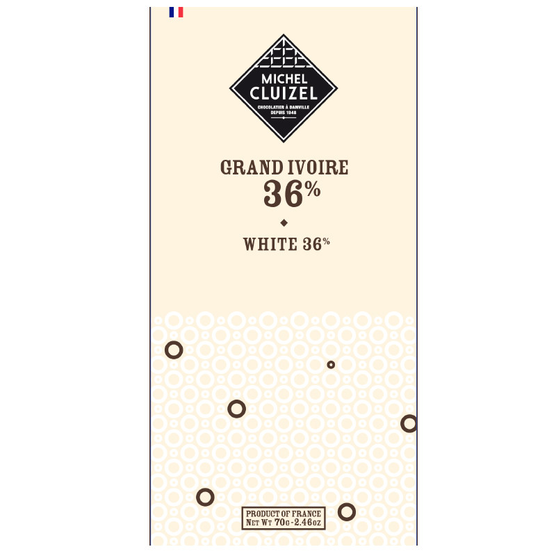 MICHEL CLUIZEL   Weiße Schokolade »Ivoire White«