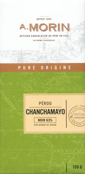 A. MORIN | Dunkle Schokolade Peru »Chanchamayo« 63%