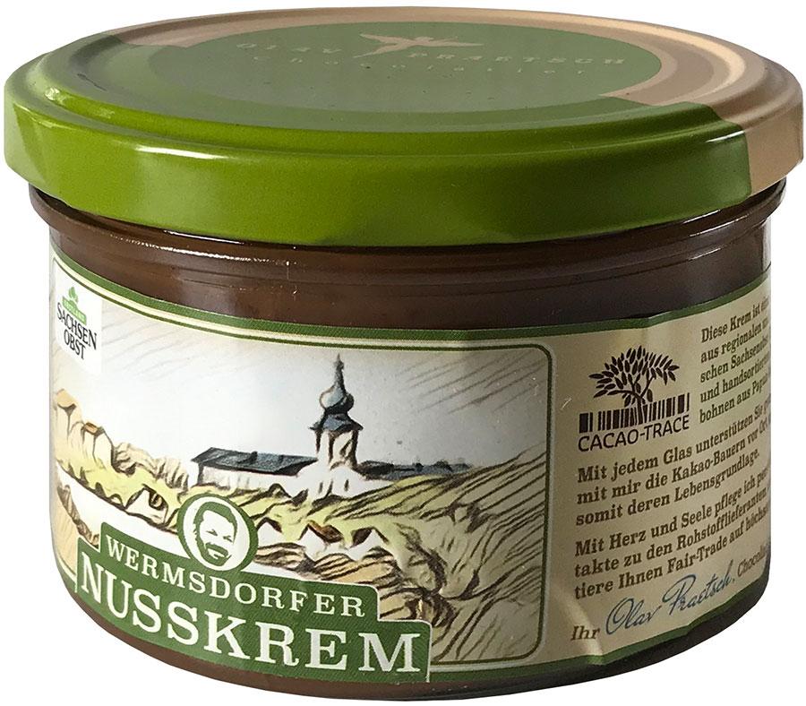 PRAETSCH   Haselnuss-Nougat-Creme Gianduja »Nusskrem« 50%   BIO - MHD 21.12.2021