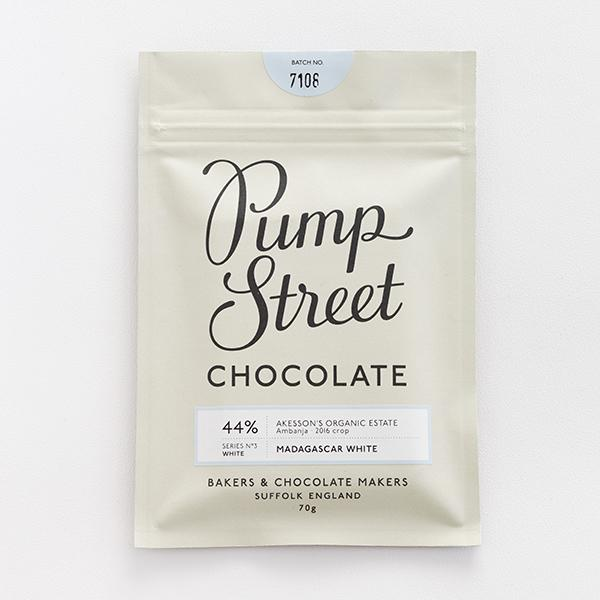 PUMP STREET BAKERY   Weiße Schokolade »Madagascar White« 44%