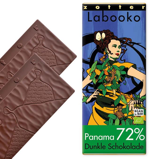 ZOTTER | »Labooko« Schokolade Panama 72% | BIO | MHD 06.11.2021