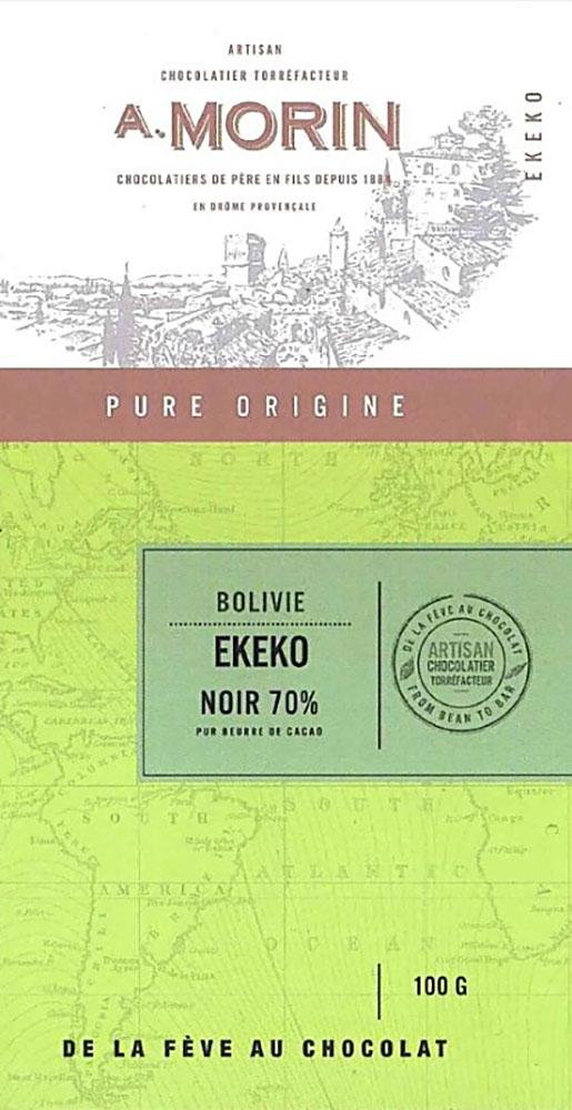 A. MORIN | Schokolade »Ekeko« Bolivie 70%