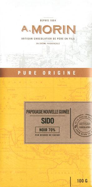 A. MORIN | Dunkle Schokolade »Sido Papua-Neuguinea« 70%