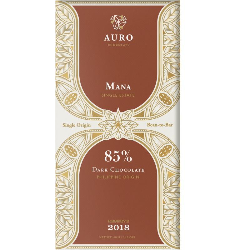 AURO Chocolate | Dunkle Schokolade »Mana« 85% 60g MHD 12.11.2021