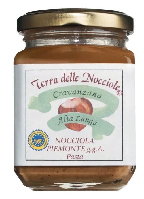 TERRA delle NOCCIOLE   Haselnußcreme »Pasta di nocciole Piemonte« 100% Haselnuss 200g