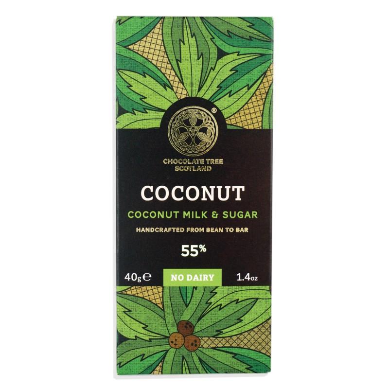 CHOCOLATE TREE Milchschokolade »Coconut Milk & Sugar« 55% - 40g