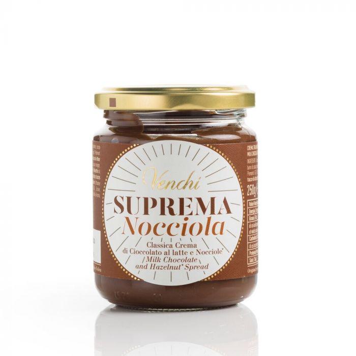 VENCHI   Schokoladen & Haselnußcreme »Suprema Nocciola« 250g