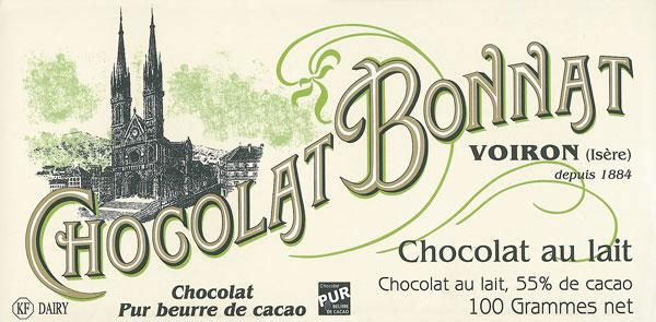 BONNAT Milchschokolade   Chocolat »au lait« 55%