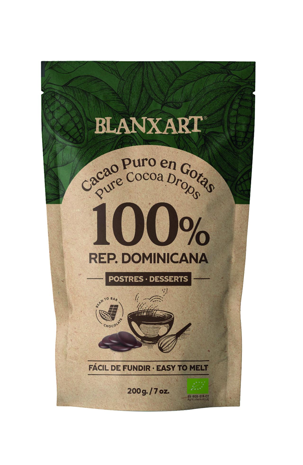 BLANXART Schokoladendrops »Rep. Dominicana« Cacao Puro 100%