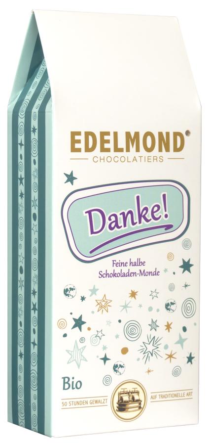 EDELMOND | Schokoladendrops »Danke« 50% | 60% | 35% | BIO