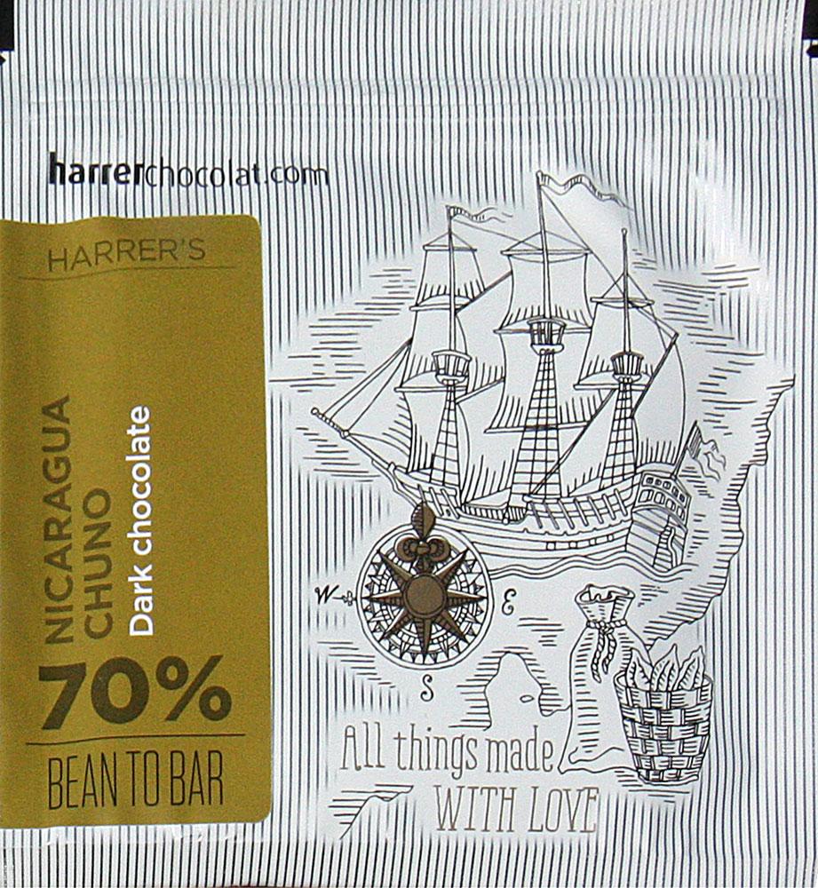 HARRER Chocolat Schokolade »Nicaragua Chuno« 70% MHD 30.10.2021