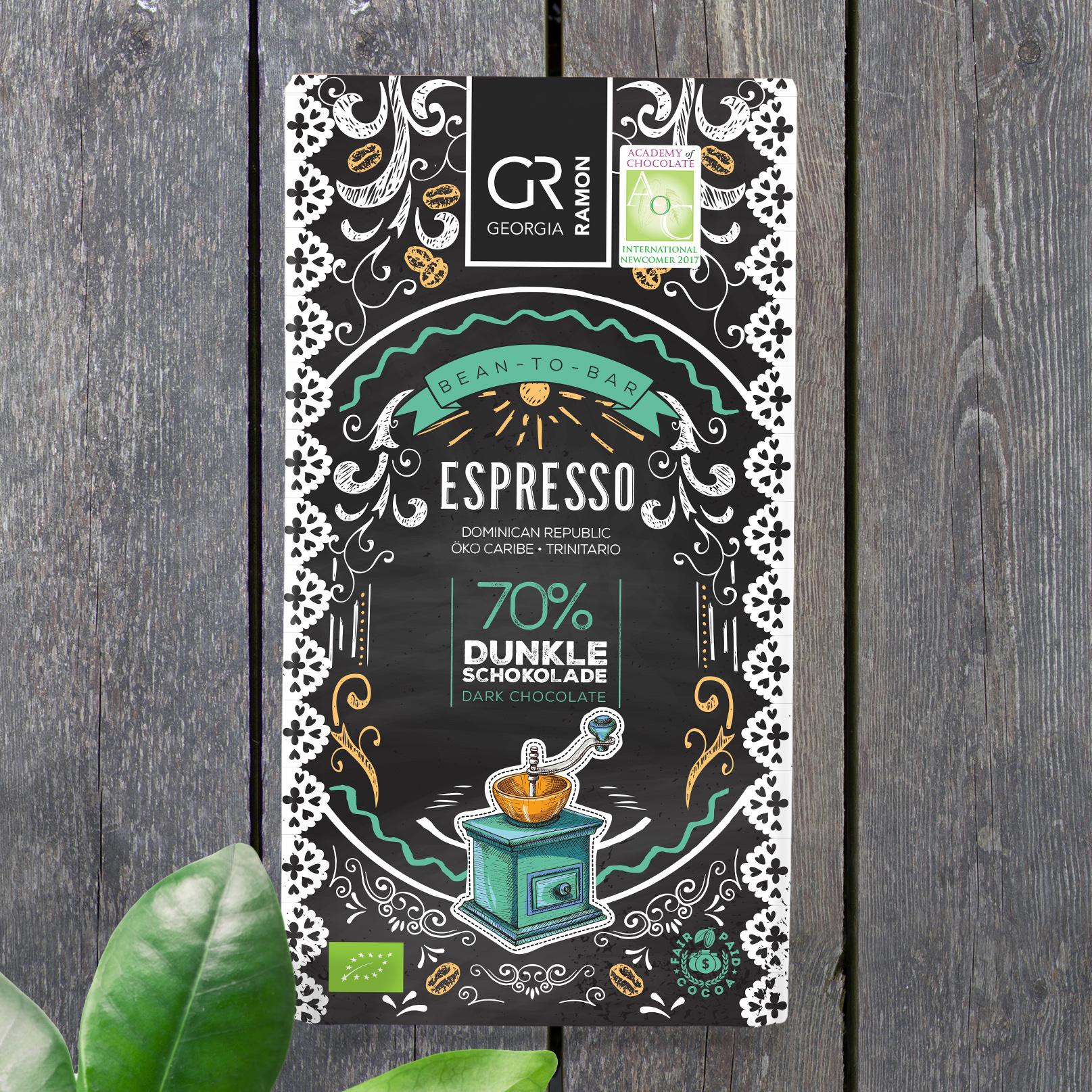 GEORGIA RAMON | Dunkle Schokolade »Espresso« 70% | BIO