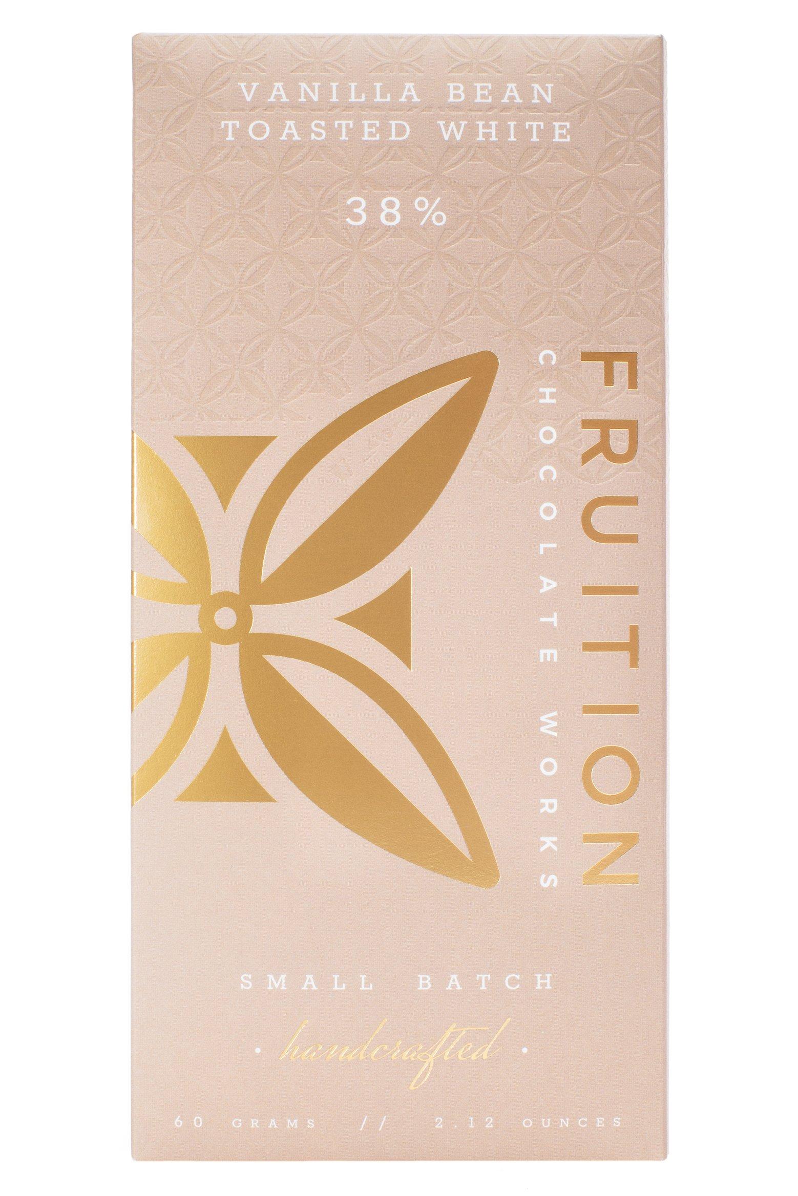 FRUITION Chocolate   Weiße Schokolade »Vanilla Bean Toasted White« 38%