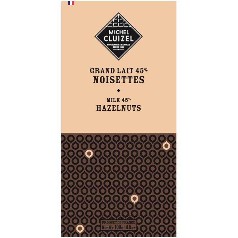MICHEL CLUIZEL | Schokolade Grand Lait »NOISETTES« 45% MHD 24.11.2021