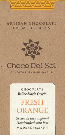 CHOCO DEL SOL   Dunkle Schokolade »Fresh Orange«   BIO