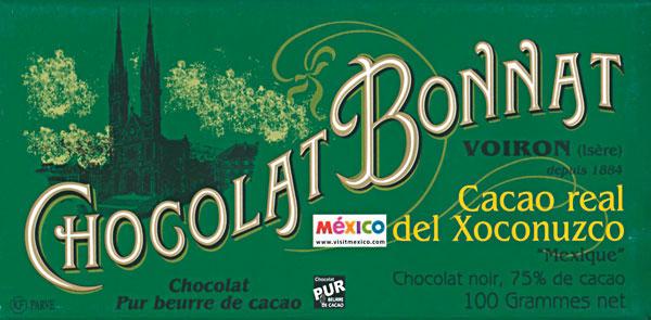 BONNAT Dunkle Schokolade   Chocolat Cacao »Real del Xoconuzco« 75%