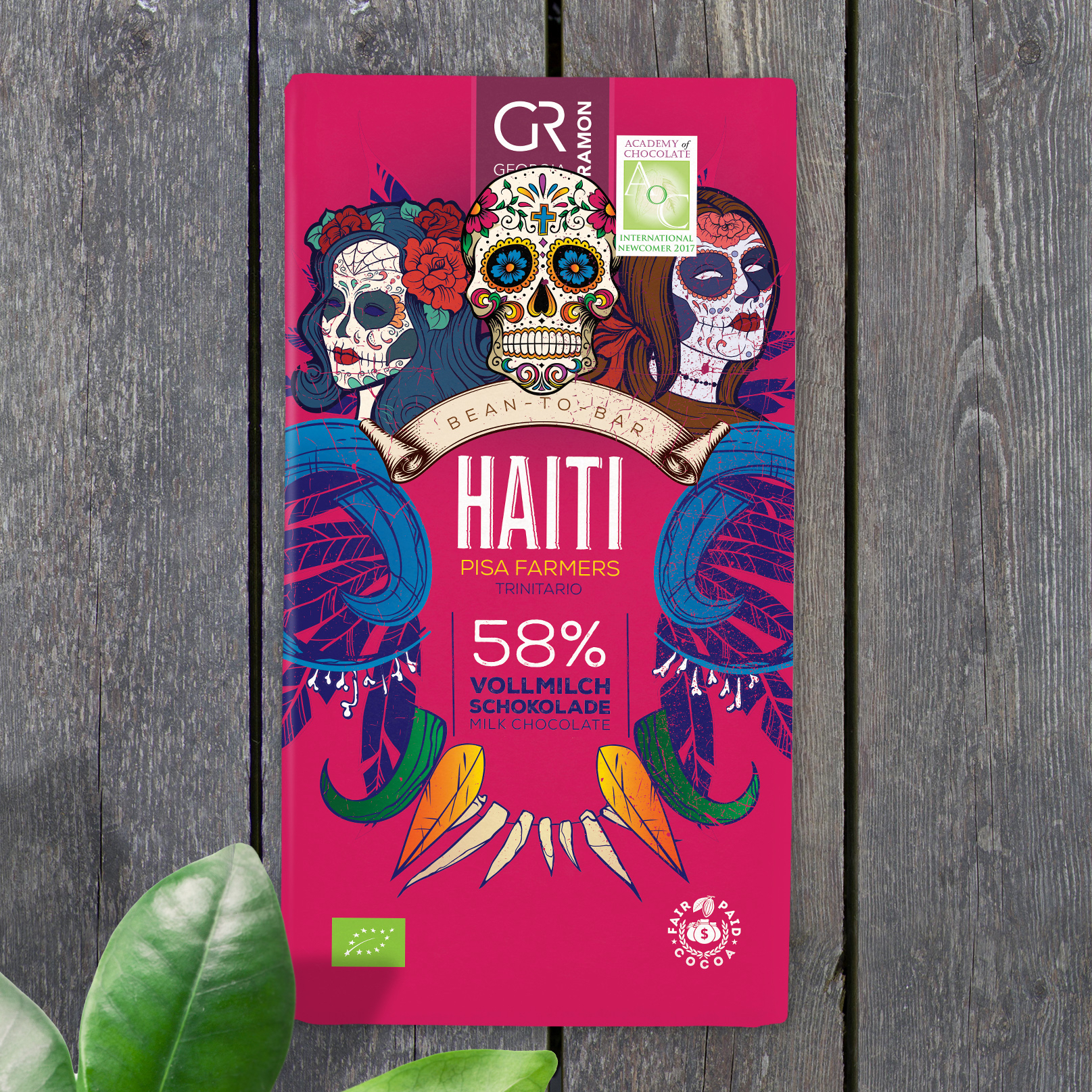 GEORGIA RAMON | Vollmilchschokolade »Haiti« 58% | BIO