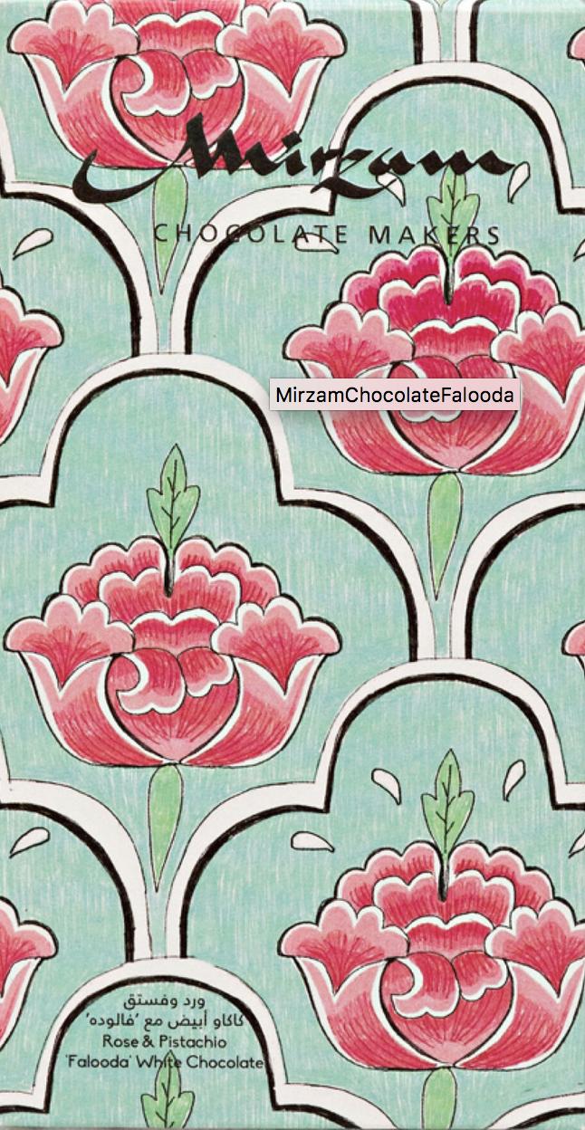 MIRZAM   Weiße Schokolade »Falooda Rose & Pistachio« 70g