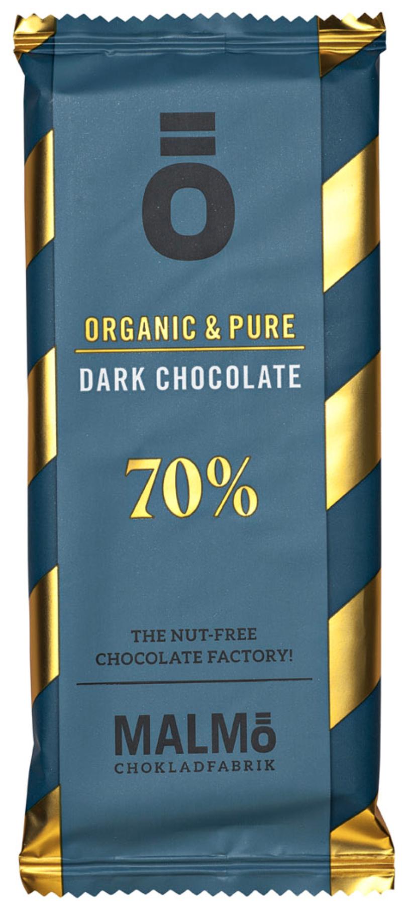 MALMÖ Chokoladfabrik | Nußfreie Schokolade »Ö-Serie« 70% - 55g | BIO MHD 09.12.2021