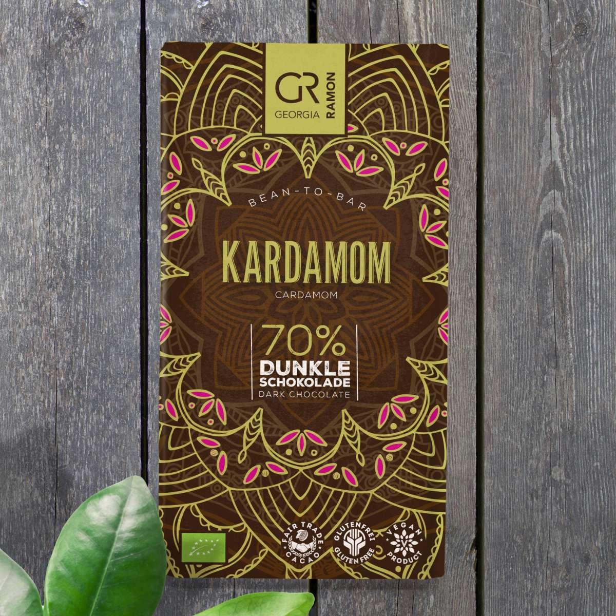 GEORGIA RAMON | Dunkle Schokolade Kardamom 70% | BIO