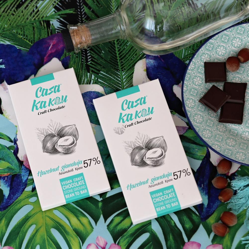 CASA KAKAU   Schokolade & Nougat »Hazelnut Gianduja« 57%