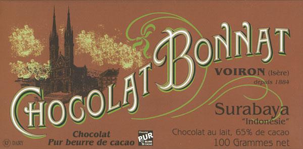 BONNAT Milchschokolade   Chocolat au lait »Surabaya« 65%