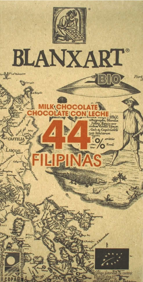BLANXART Milchschokolade »Filipinas« 44% - 125g