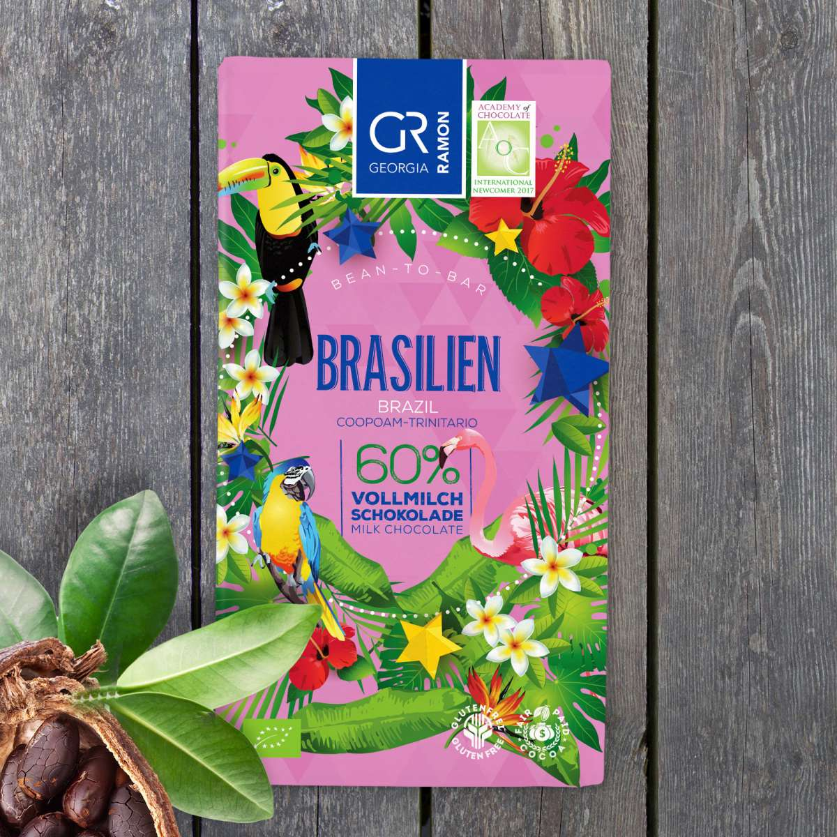GEORGIA RAMON | Vollmilchschokolade Brasilien 60% | BIO