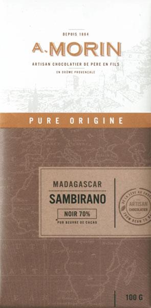 A. MORIN | Dunkle Schokolade Madagaskar »Sambirano« 70%