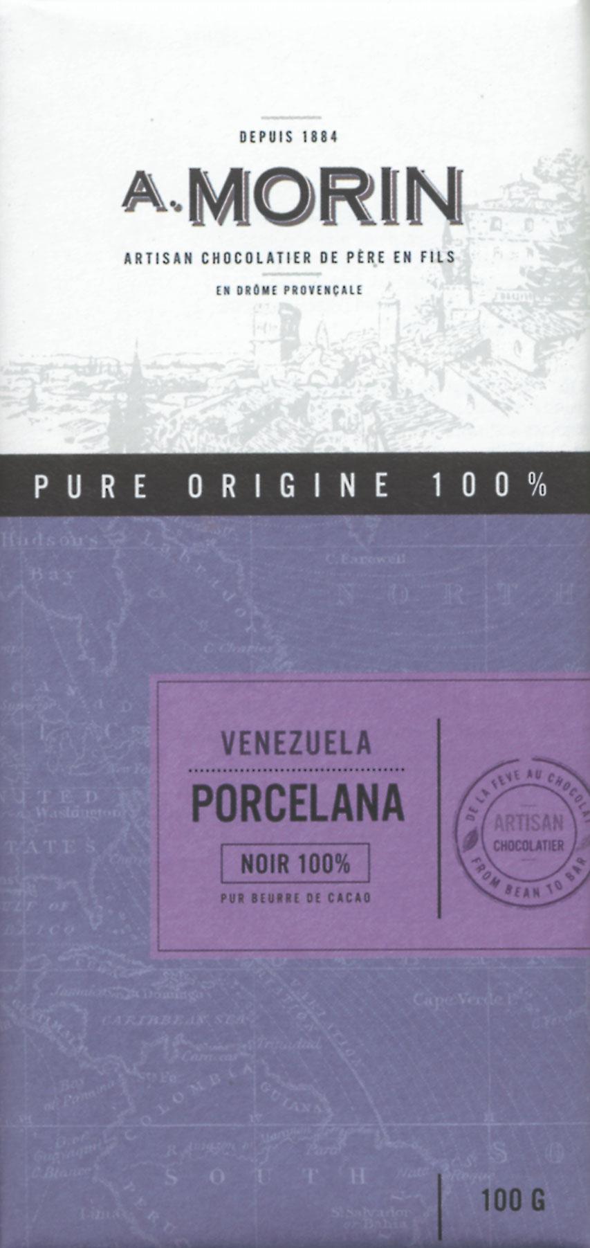 A. MORIN | Dunkle Schokolade Venezuela »Porcelana« 100%