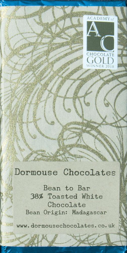 DORMOUSE Chocolates   Weiße Schokolade »Toasted White« 38%