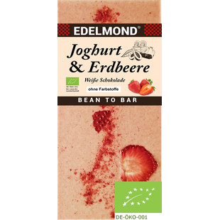 EDELMOND | Weisse Schokolade »Joghurt & Erdbeere« BIO MHD 27.11.2021