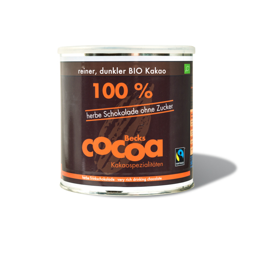 BECKS Cocoa | Trinkschokolade »100 Prozent « 100% ohne Zucker - 1200g