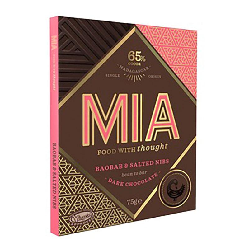 MIA | Dunkle Schokolade »Baobab & Salted Nibs« 65%