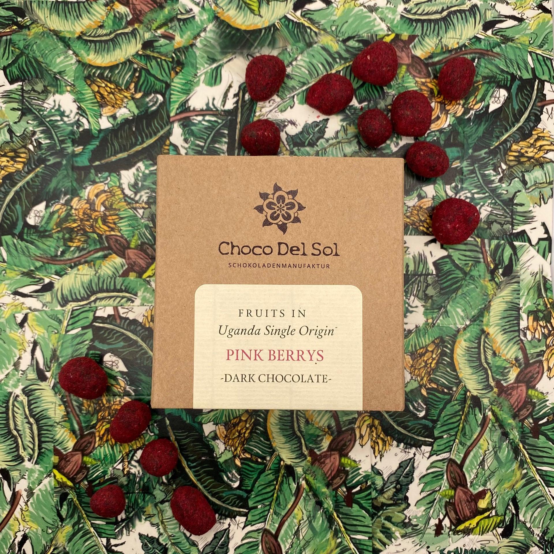 CHOCO DEL SOL | Schokoladendragees Rote Früchte »Pink Berries« 78% | BIO