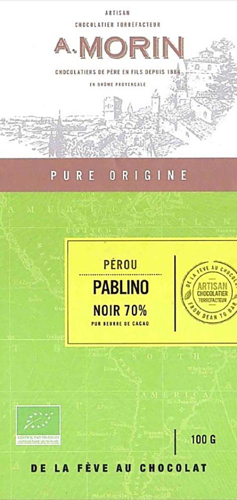 A. MORIN | Dunkle Schokolade »Pablino« Perou 70%